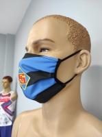 Mund- und Nasenmaske Design blau schwarz